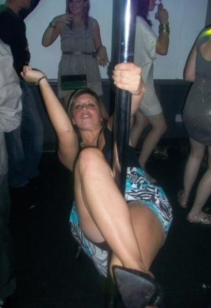 Pole Dancing Upskirt in the Club