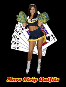 Play Strip Poker with Cheerleader Brooke Lima