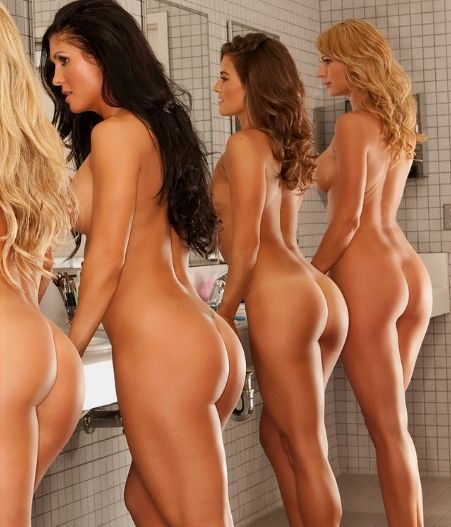 Sports Team Naked in the Changing Rooms
