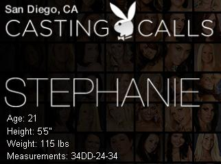 Stephanie at the San Diego Casting Calls