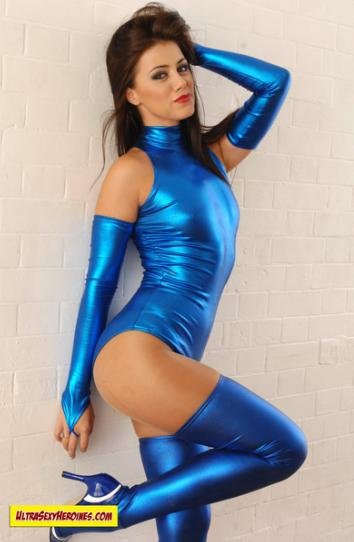 Sexy Shiney Superhero Girl
