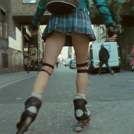 A difficult upskirt nice legs 2