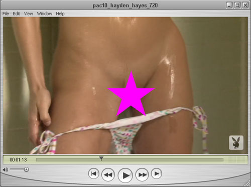 WOW - Party Time!!  Hayden Hayes has taken her Bikini Bottoms Down for One Time Only!!