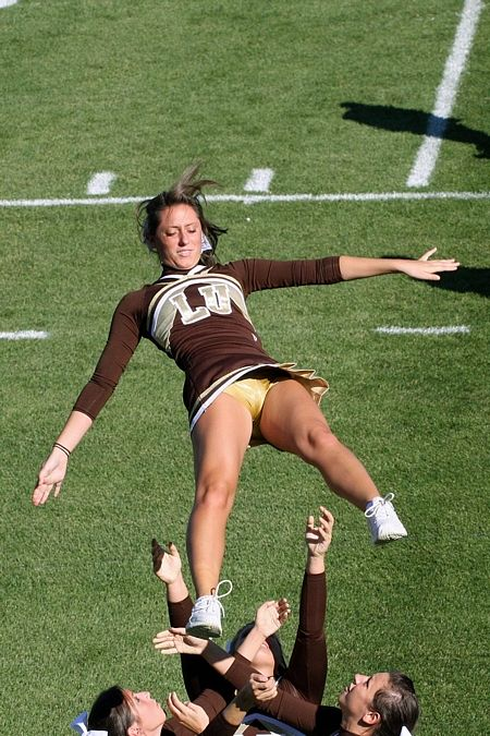 Thrown Cheerleader Up Skirt
