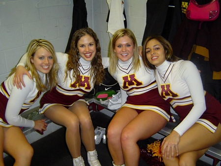 Inside the Cheerleader's Changing Room