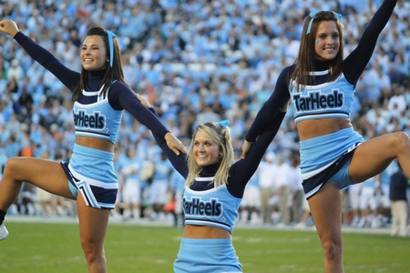 Cheerleaders Kicking Upskirts