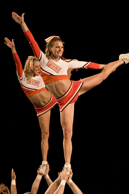Flexible Cheerleader Up Skirt
