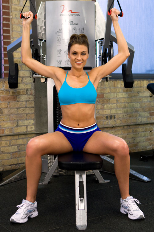 Fit Girls Workout out with her Legs Spread in Tight Shorts