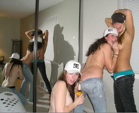Drunk Girls Partying