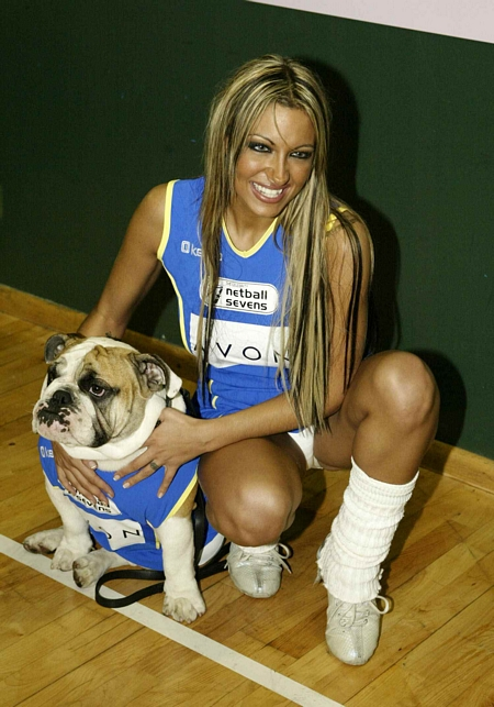 Jodie Marsh White Netball Panty Up Skirt