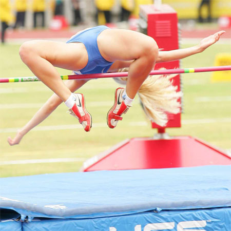 nude girls high jump