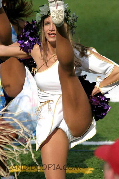 Kicking Cheerleader Upskirt