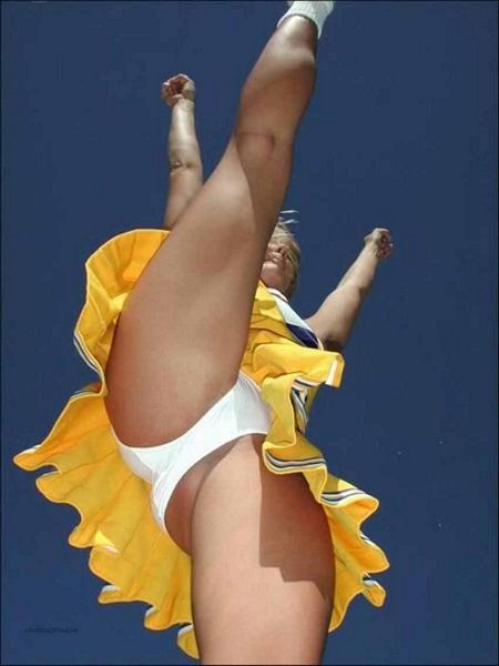 Cheerleader White Panties Upskirt