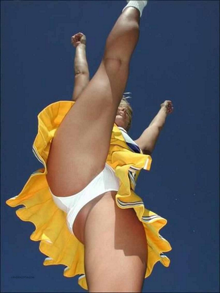 Upskirt pictures basketball cheerleaders