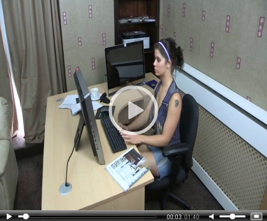 *Video:office downblouse