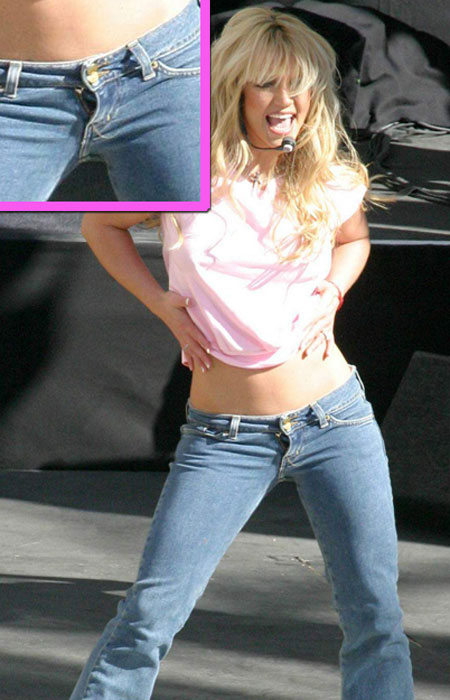 Britney Spears with her Zipper Down on Stage