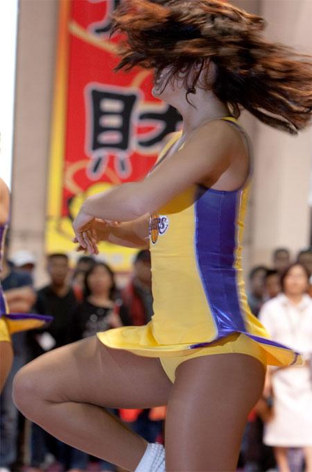 Sey Candid Cheerleader Upskirt