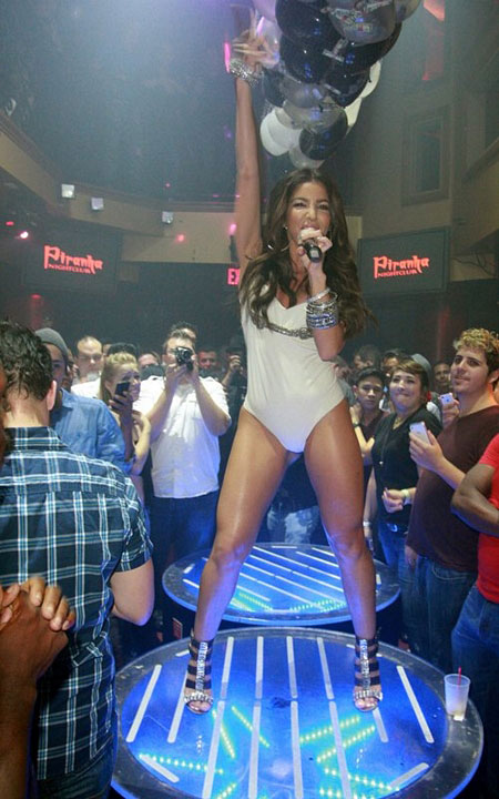 Melissa Molinaro in her Tight White Leotard