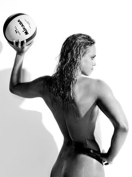 Naked Water Polo Player