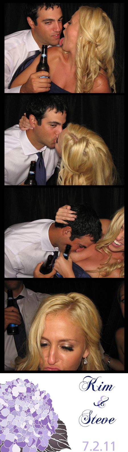 Drunk Kissing in a Photobooth