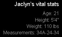 Jaclyn's Vital Stats