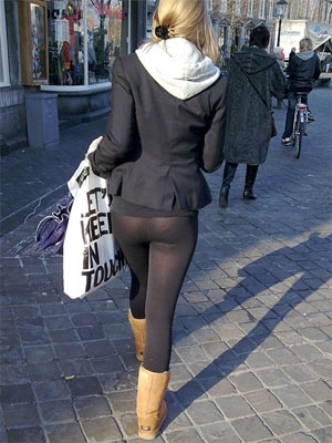 Tight Leggings Candid