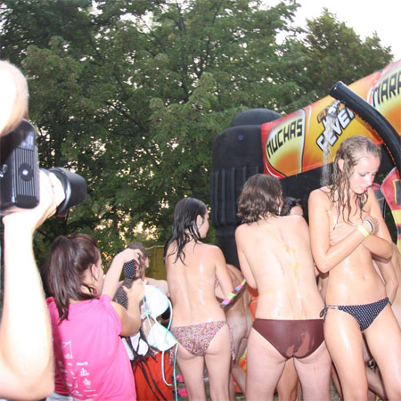 Students Strip for Initiation