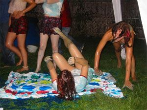 Drunk Coeds Playing Twister