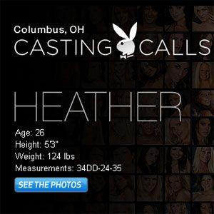 Heather at the Columbus Playboy Casting Calls