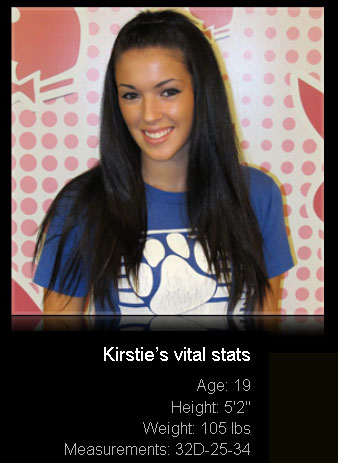 Cute 19yo Kirstie arrives at the Orlando Playboy Casting Call