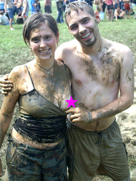 Muddy Boob Flash