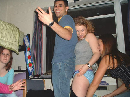 Coed Pantsed at a Party