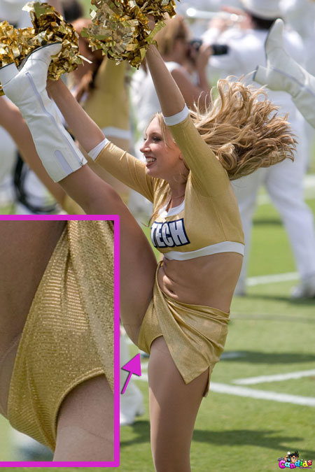 Cute Blonde Cheerleader Upskirt
