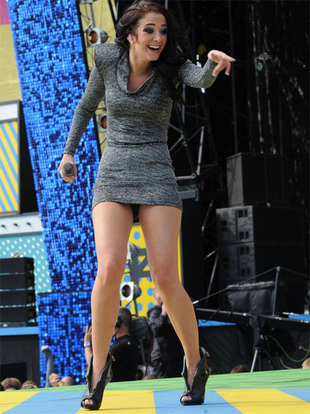 Tulisa Upskirt on Stage