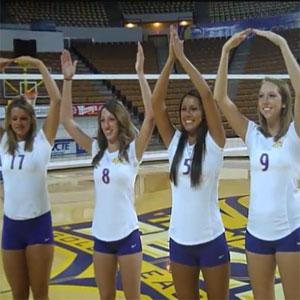University Volleyball Team Photo