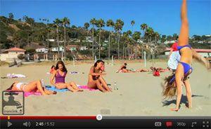 Moel Ball Bikini Cartwheel