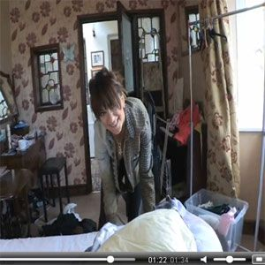 Downblouse Oops Fun as Mai Lays Your Bed