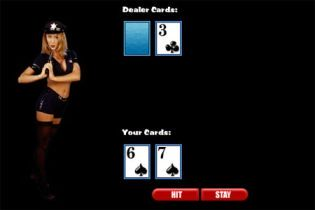 Strip Blackjack with a Police Officer