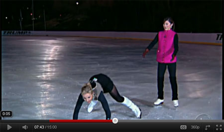 Elisabeth slips on the ice