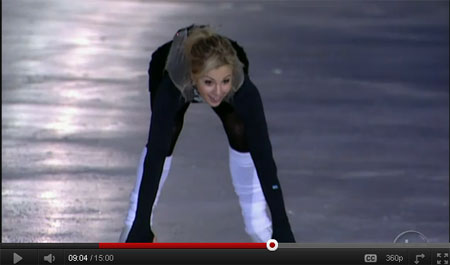 Blonde Babe Elisabeth Hasselbeck Dancing on Ice