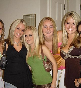 Group of Blonde Girlfriend's Partying