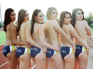 Sporty University Girls Pose Topless for a Sexy Calendar