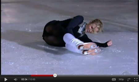 Oops Upskirt on the Ice