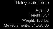 Haley's Vital Stats
