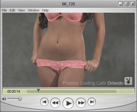 Orlando Girl Courtney in her Pink Underwear