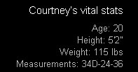 20yo Courtney's Vital Stats