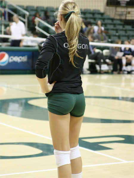 Cute Oregon Blonde Volleyball Player
