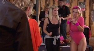 Hollyoaks - Pink Leotard