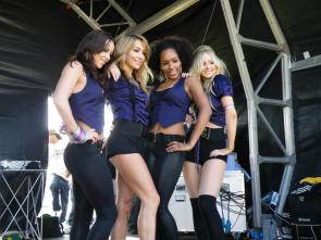 Four UK Babes on Stage at a Car Show