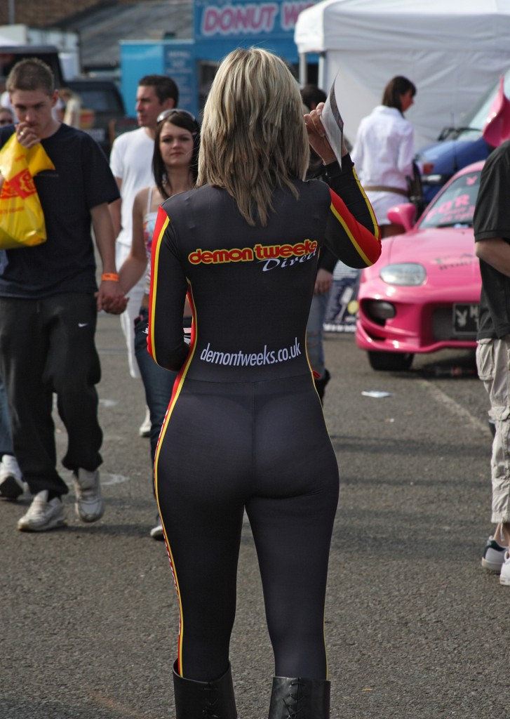 Spandex Ass at a Car Show